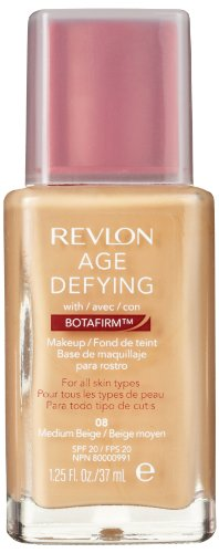 Revlon Age Defying Makeup with Botafirm, SPF 20, Normal/Combination Skin, Medium Beige 08, 1.25-Ounce by Revlon