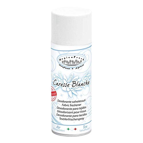 Deodorante Spray Profumo Salvatessuti Professionale Igienizzante Mangia Odori Interni Auto Scarpe Igiensoft (Caresse Blanche)
