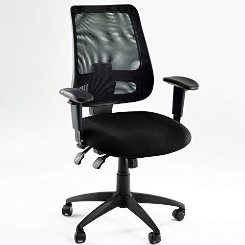 æ— Silla de escritorio de ajuste, silla de oficina ergonómica giratoria ejecutiva con brazos y soporte de malla lumbar, silla de computadora para oficina en casa