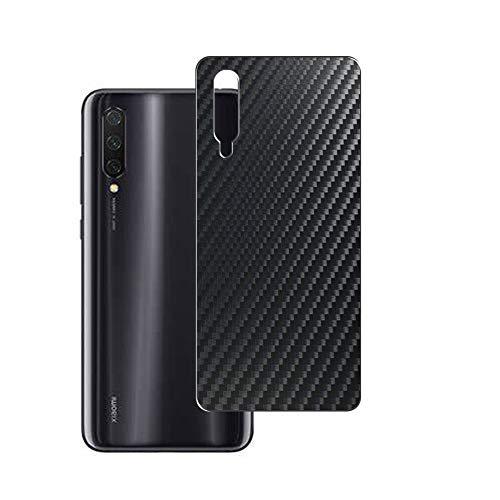 Vaxson 2 Unidades Protector de pantalla Posterior, compatible con Xiaomi Mi 9 Lite, Película Protectora Espalda Skin Cover - Fibra de Carbono Negro