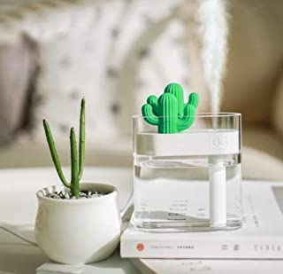 EZ-Basics Portable Mini Cactus Humidifier, USB Cool Mist Humidifier for Bedroom Home Office Car with Timed auto Shutoff, 7...