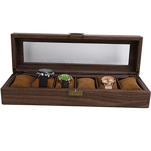 Haowecib Caja de Reloj, Caja de Reloj de Material de Terciopelo Suave para Reloj y joyería para exhibición de Tienda Decoración del hogar