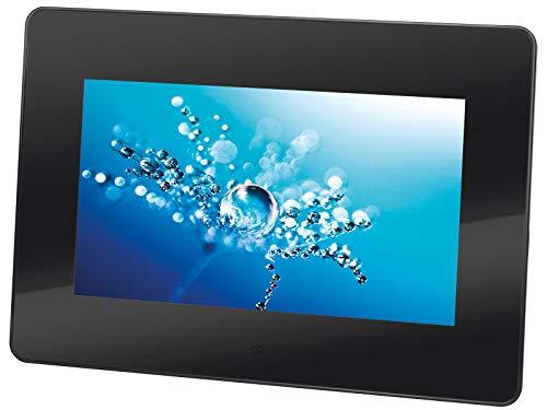 Trevi DPL 2210 Cornice Digitale Digital Photoframe con Display 7  LED, USB, SD, Funzione Orologio e Calendario, Appendibile a Parete, Nero