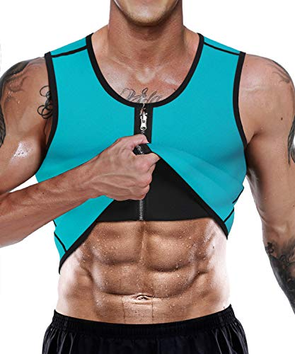 Syfinee Sauna Sweat Vest Advanced Body Weight Loss Sauna Vest Breathable Quick-Drying Slimming Top Weight Loss Waist Trainer Vest Neoprene Tank Top Shapewear Slimming Shirt Workout Suit for Women Men