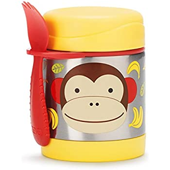 Skip Hop Insulated Food Jar Stainless Steel Baby Food Container, Monkey