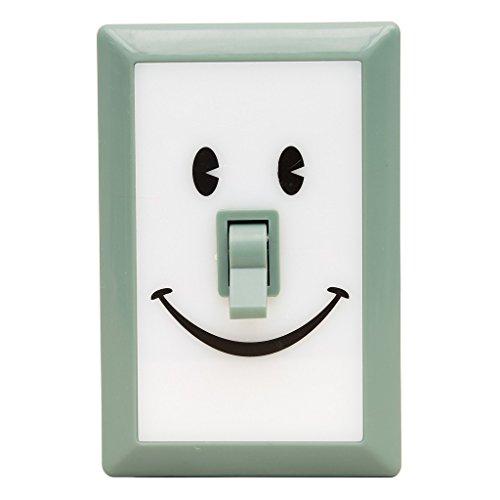 Time Concept Smile - Luz LED para Interruptor de Dormitorio, luz de Noche para el hogar, Mint