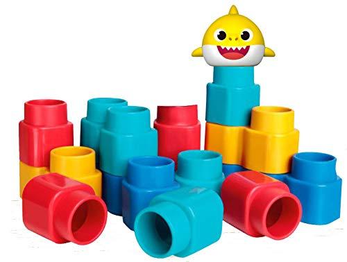 Elka Fofo Blocos – Baby Shark Brinquedo Para Montar,15 Peças, Colorido, 1132