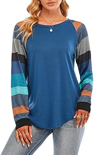 iukovka Womens Long Sleeve Tee T Shirts Color...