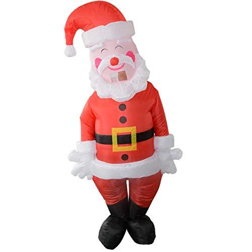 LLVV Kerstman Opblaasbare Kostuums Kerst Cosplay Kostuum voor Vrouwen Man Volwassen Vakantie Opgeblazen Kleding
