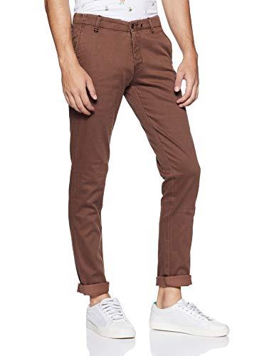 blackberrys Men's Chino Casual Trousers (UTMU0601C3IA18FT38_Chocolate Brown_38W x 33L)