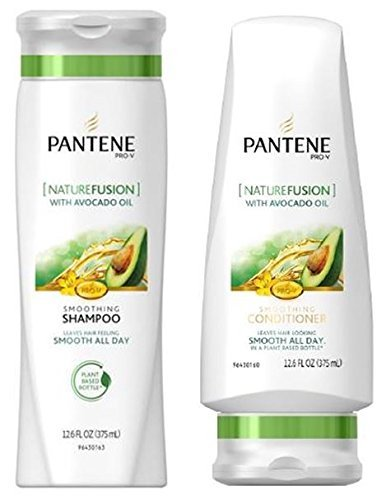 Pantene Pro-V Shampoo & Conditioner Set, Nature Fusion with Avocado Oil, 12 Ounce Each