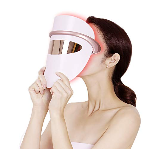 LED Face Mask LOVEKA Light Therapy Acne Treatment Mask,Upgrade Eye Massage Constant Temperature...