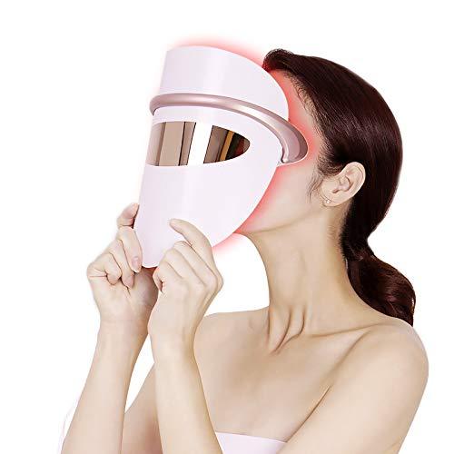 LED Face Mask LOVEKA Light Therapy Acne Treatment Mask,Upgrade Eye Massage...
