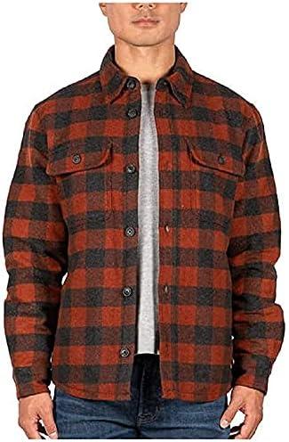 Jachs Men's Wool Blend Shirt Jacket (Red, Large)
