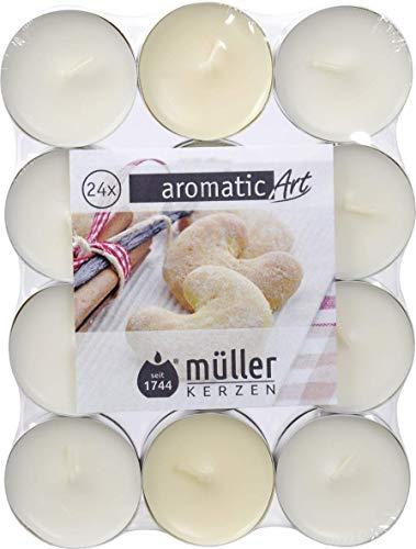 Müller Kerzen 48 Duftteelichter mit weihnachtlichen Düften, Weihnachtsdüfte, Duftteelichter, Duftkerzen, Teelichter (süße Mandeln)