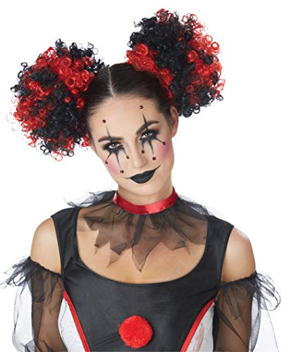 California Costumes Women's Clown Puffs, RED/Black, One Size