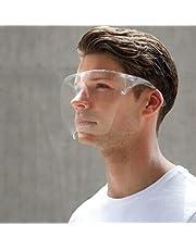 1 Stuks Spatmasker voor gezicht,Face Shield, Gelaatsbescherming Stylish Full Cover Transparent Glasses Face Visor - Anti-Fog - Dustproof