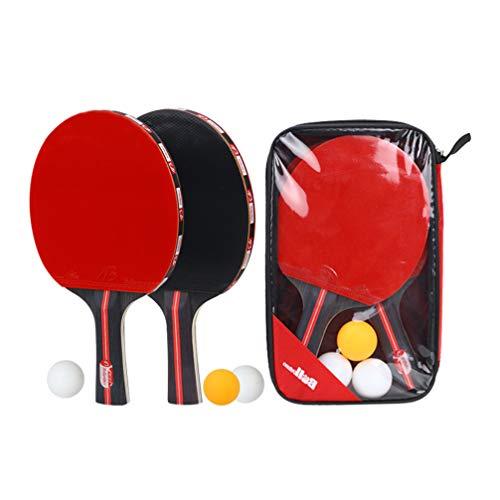 BESPORTBLE 1 Paar Tischtennisschläger Anzug Ausbildung Tragbare Anfänger Horizontale Sport Tischtennis Paddel Tischtennisbrett Tennisschläger Set