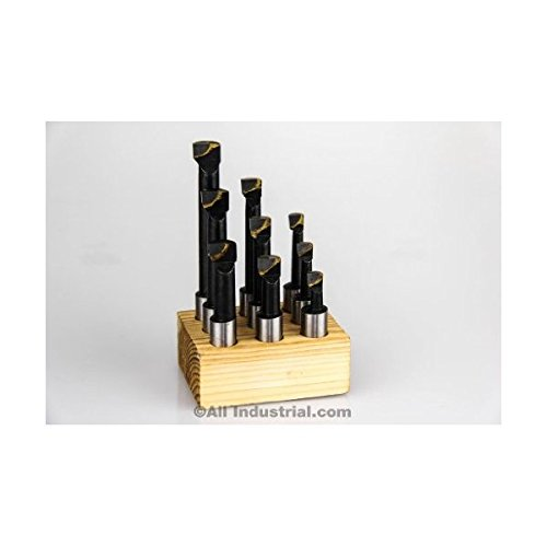 3/8' Shank 9 Piece Carbide Tip Bore Bar Set