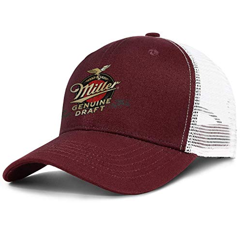 hgfyef Unisex ManFashion Baseball Cap Unconstructed Miller Genuine Draft Design Runing Dad Hat DIY 21559