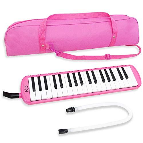 keepdrum Melodica 37 Tasten mit Tasche Pink Rosa