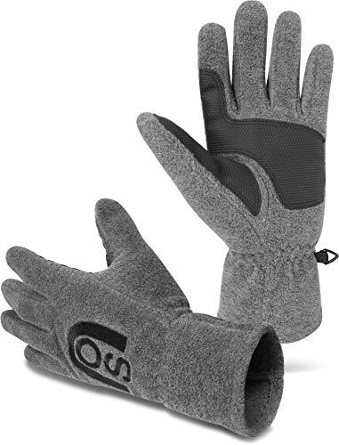 normani Thinsulate Herren Fleece Handschuhe mit Fleecefütterung - schön warm für kalte Tage Farbe Nuuk Grau Größe XL
