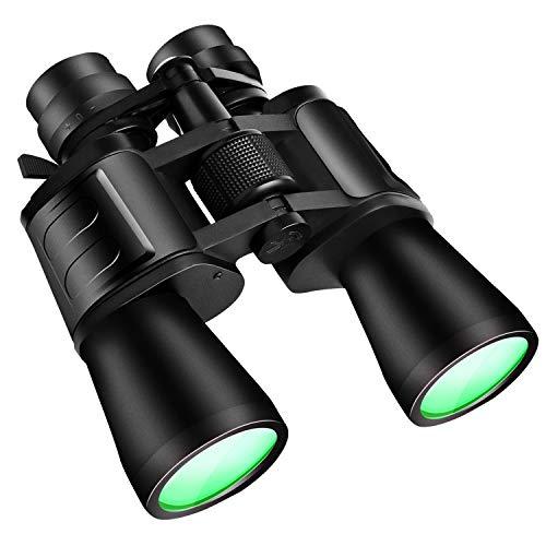 TeqHome Zoom Binoculars, 8-24x50 High Power Binoculars for Adults, Large Eyepiece Binoculars for Birds Watching Hunting Sports, with BAK4 FMC Lens