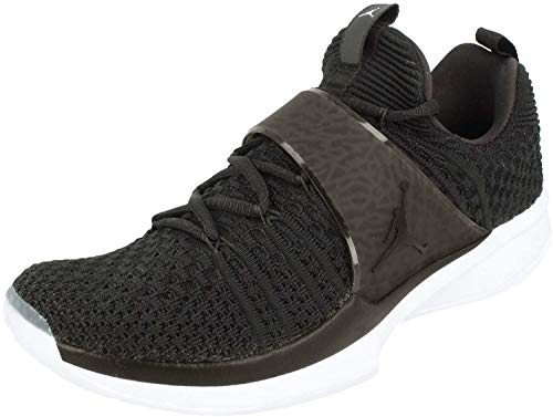 Nike Air Jordan Trainer 2 Flyknit Herren Basketball Trainers 921210 Sneakers Schuhe (EU 43, Black White 010)