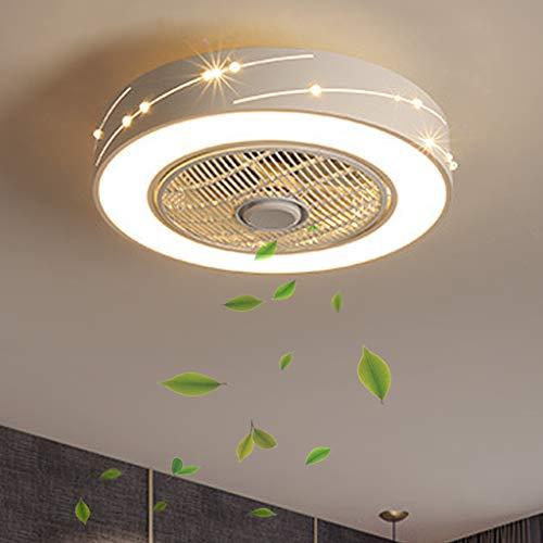 Lámpara de ventilador LED Ventilador de techo moderno con control remoto Ventilador silencioso Invisible Lámpara de luz Vivero Habitación de niños Ventilador Lámpara de techo