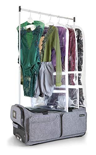 Mavii Costume Rack Duffel-Wheeled 28 Inch Collapsible Bag, Grey
