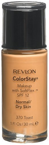 2 x Revlon ColorStay Makeup 370 Toast 30 ml Normal/Dry Skin NUEVO