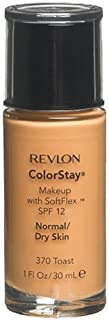 Revlon ColorStay Makeup with SoftFlex, Normal/Dry Skin, Toast 370, Packaging May Vary, 1 Ounce (Pack of 2)