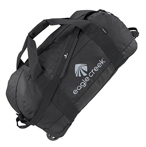 Eagle Creek Lightweight Wheeled Travel Bag No Matter What Rolling Duffel L Ultra Durable, Black Mallette Ordinateur à roulettes, 76 cm, 105 liters, Noir (Black)