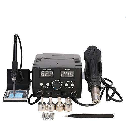 Valens Stazione di Saldatura Digitale SMD 2 in 1 70W con Pistola ad Aria Calda 750W Kit Saldatore Elettronico