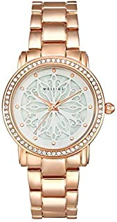 MESTIGE Womens Quartz Watch, Analog Display and Brass Strap MSWA3168