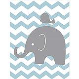 XWArtpic Süße Elefanten Familie Kinderzimmer Dekor Liebe