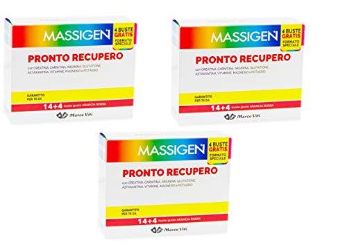 3 MASSIGEN PRONTO RECUPERO 14 BST MAGNESIO E POTASSIO Integratore Alimentare combatte l affaticamento senza glutine, lattosio, coloranti