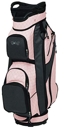 Glove It Ladies' Golf Bag - Lightweight, Nylon Cart Bag with 14 Dividers, Putter Well, Rain Hood & 9 Easy-Access Pockets, Rose Gold Quilt
