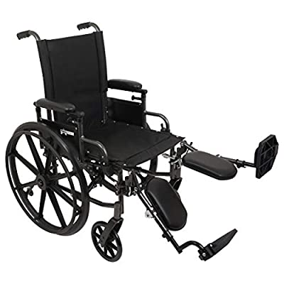 ProBasics Ultra Lightweight Wheelchairs For Adults - Height Adjustable Seat - Quick Release Rear Wheels - Flip Back Height Adjustable Desk Arms - 2 inch Seat Extension - Black - Elevating Leg Rest - Multiple Size Options Available