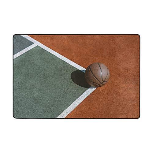 Orediy Alfombras suaves de baloncesto en el suelo, alfombras ligeras para jugar a los niños, alfombra antideslizante para yoga para sala de estar o dormitorio