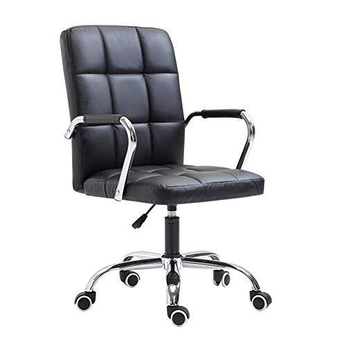 JIEER-C vrijetijdsstoelen bureaustoel boogstoel draaistoel stalen buizen poten vaste armleuning computertafel stoel 4 kleuren duurzaam sterk Pulleys zwart