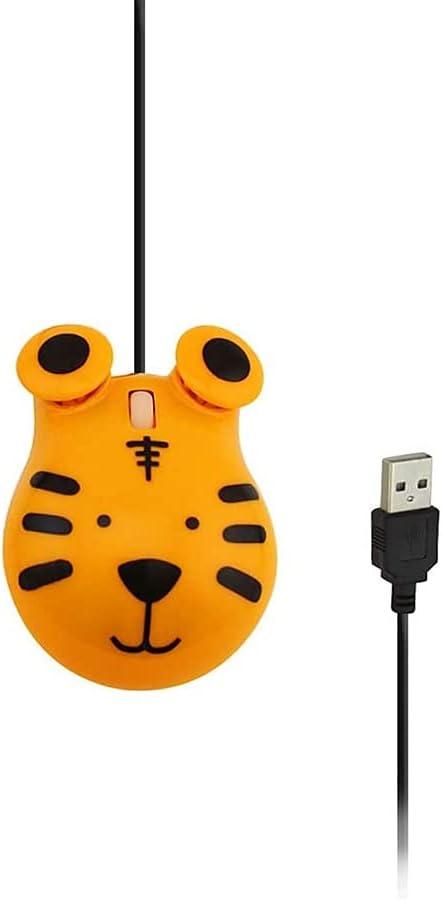 BAOZUPO Ratón óptico inalámbrico para Ordenador, Bonito Dibujo Animado con Forma de Anime, Mini USB ergonómico, Juguete de Regalo para niña Rosa