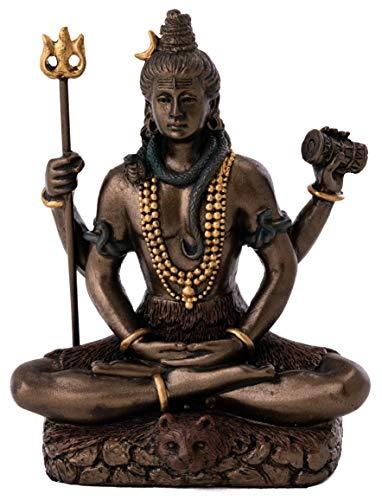 King Tut's Secret 8,3cm Lord Shiva in Lotus-Pose–Hindu Gott und Zerstörer des Bösen