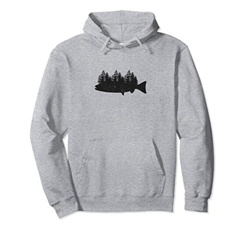 Fischen Hemd für Manner Geschenke Vati Onkel Fish and Forest Pullover Hoodie