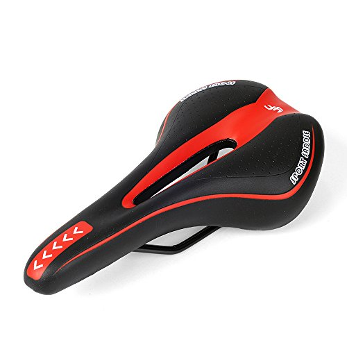 Sillín Gel Bicicleta de Montaña MTB Antiprostatico Sillín Bici Carretera (rojo)