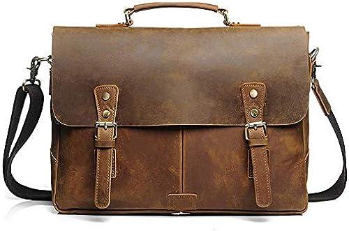 Briefcase Home Vintage Leder Breifcase Herren Umh etasche Größe Kapazit Handtasche