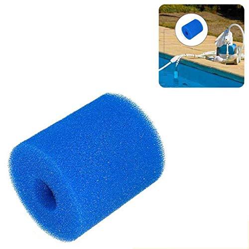 Wxhkj Filterkartuschen Schwamm für Intex Typ S1 Filter, 2 Stück Waschbare Schwammkissenpatrone Poolfilter,Schwimmbad-Filter,Foam Sponge for Pool Filter (2PCs)