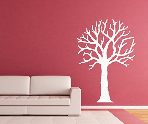 Wandtattoo Baum Bäume Aufkleber Äste ohne Blätter Kinderzimmer Herbst Deko Wald Wandsticker Wohnzimmer 1E077, Hohe:160cm;Baum Farbe:Braun Matt