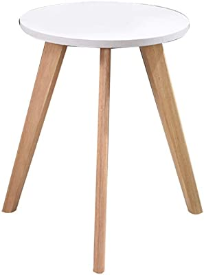 小スペーステーブル-CMing バルコニー、ソリッドウッドテーブルの脚耐久性に優れたコーヒーテーブル飲料ショップザ・モール衣料品店レジャー表の小さな円卓 装飾的な収納品 (Color : A, Size : 60*55CM)