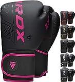 RDX Guantes de Boxeo Muay Thai Entrenamiento, Maya Hide Cuero, Kara Boxing Gloves para Sparring Kickboxing Artes Marciales Saco...